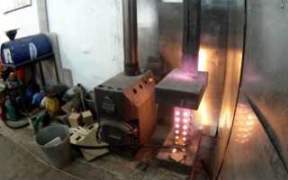 Подбор вида и самостоятельный монтаж гаражной печки на отработке или дровах