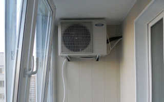 Правила установки кондиционера на застеклённый балкон, плюсы и минусы способа