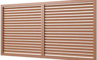 Виды и конструктивные особенности жалюзийных решеток для систем вентиляции, способы установки