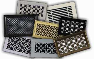 Виды и конструктивные особенности различных типов вентиляционных решеток, выбор и установка своими руками
