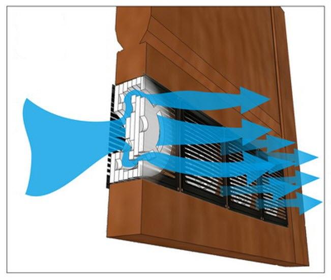 дверь для ванной с вентиляцией