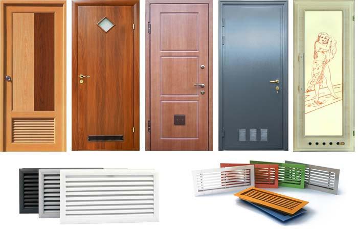 виды дверных вентиляционных решеток