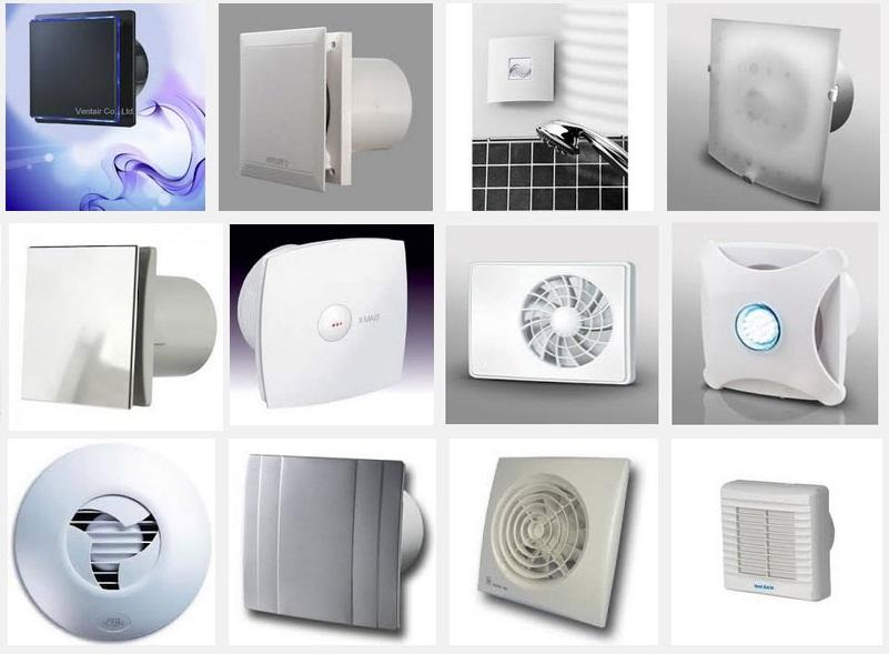разные виды вытяжных вентиляторов