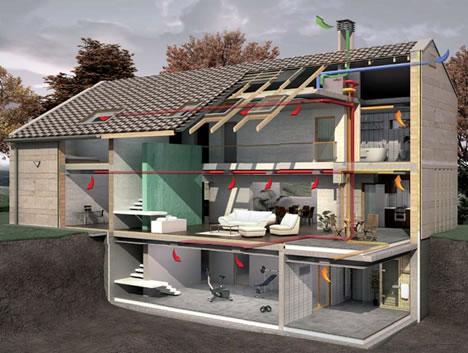 схема приточной вентиляции дома