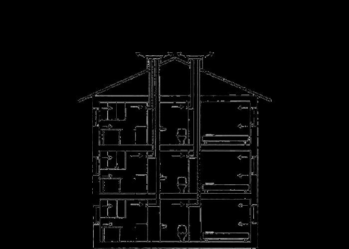 Схема вентиляции в хрущевках
