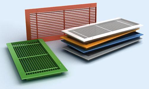 разноцветные вентиляционные решетки