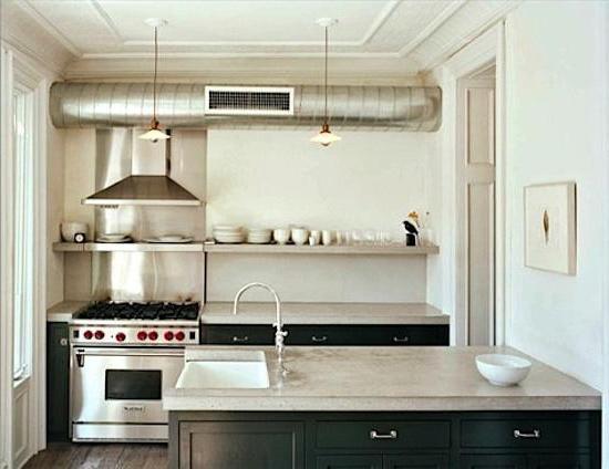 дизайн кухни с коробом