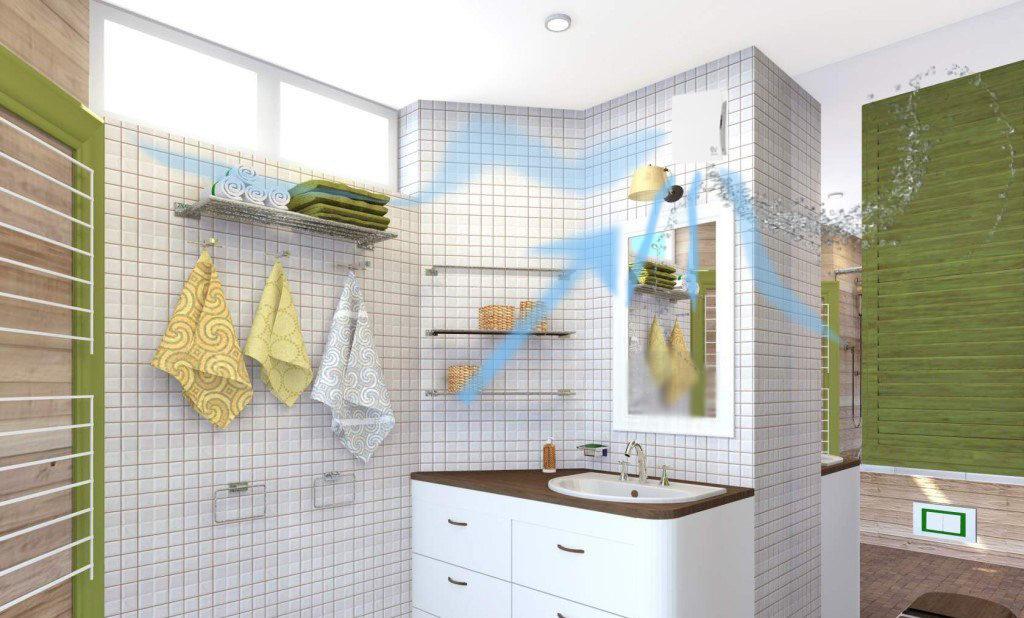 вытяжной вентилятор с датчиком в ванной