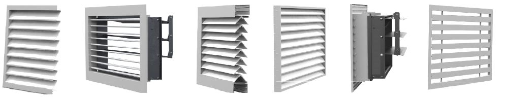 схемы решеток в разрезе