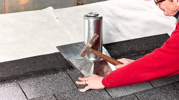 монтаж вентиляции на крыше