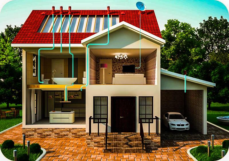 схема вентиляции канализации частного дома