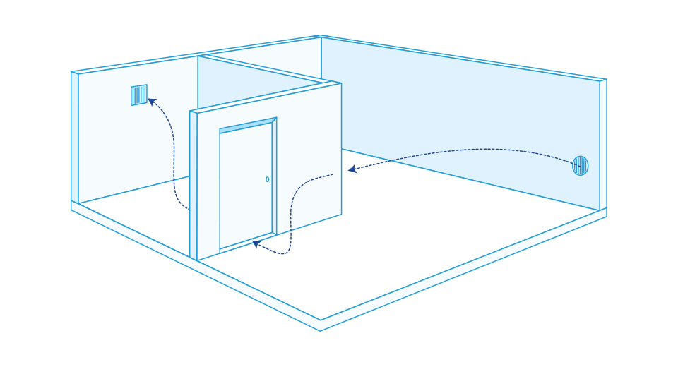 вентиляция в комнате без окна
