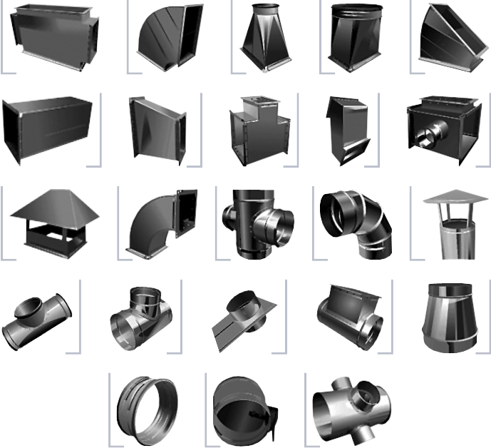 элементы вентиляции из оцинковки