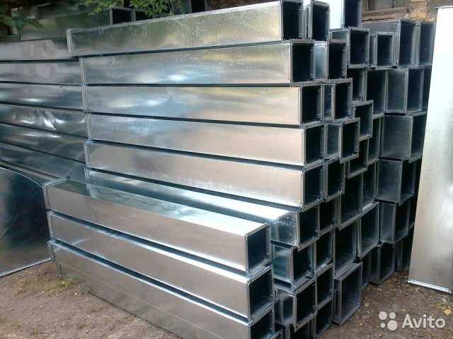 квадратные воздуховоды из оцинкованной стали