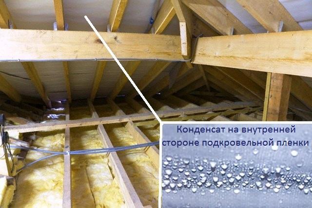 конденсат на крыше