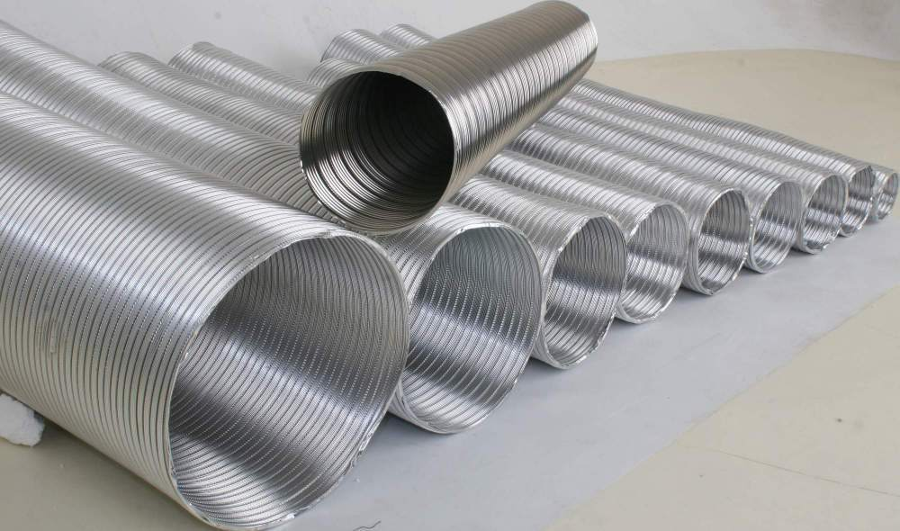 гофрированные трубы разного диаметра