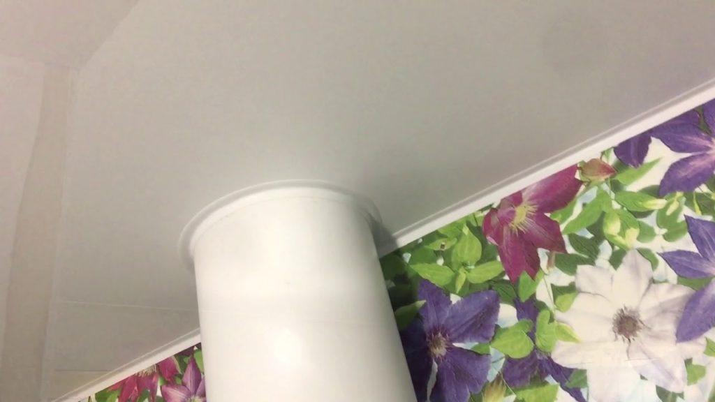 интеграция вытяжки в натяжной потолок