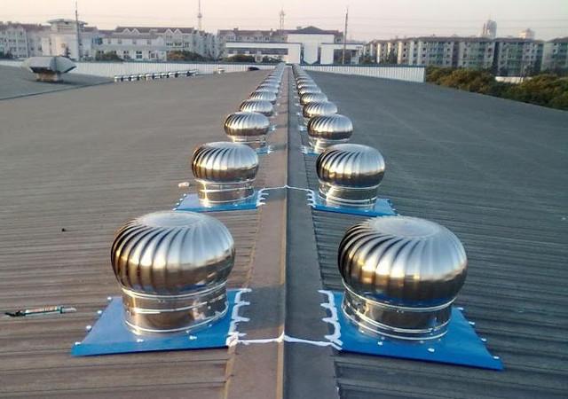 много дефлекторов на крыше