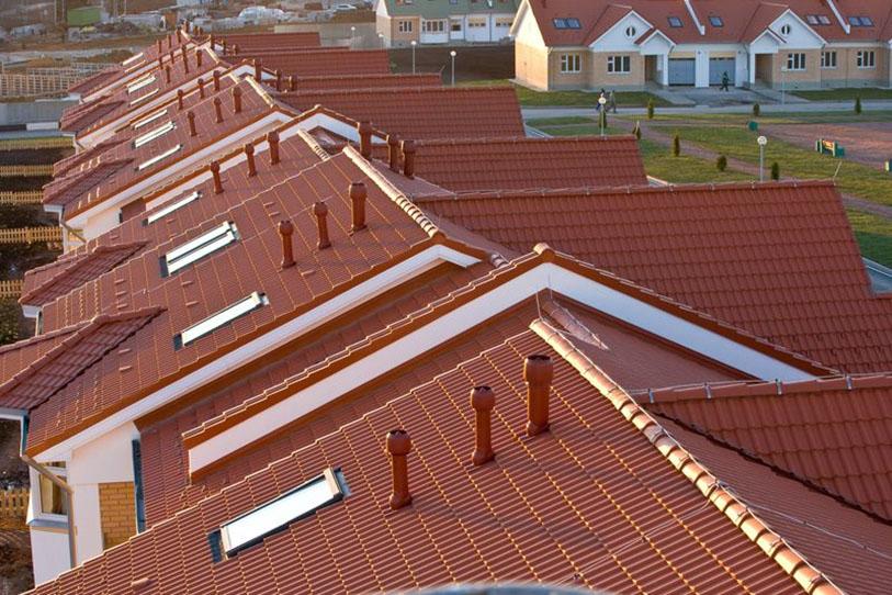крыши с вентиляционными выходами