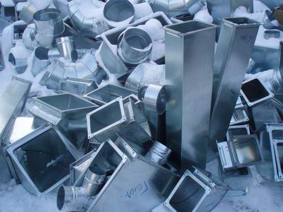 Разнообразные воздуховоды из оцинкованной стали