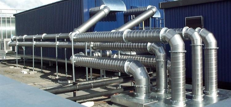 система вентиляции из оцинкованных труб