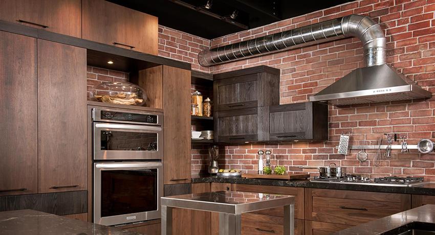 кухонная вытяжка с металлической гофрой
