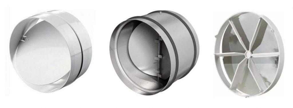 виды обратных клапанов для вентиляции