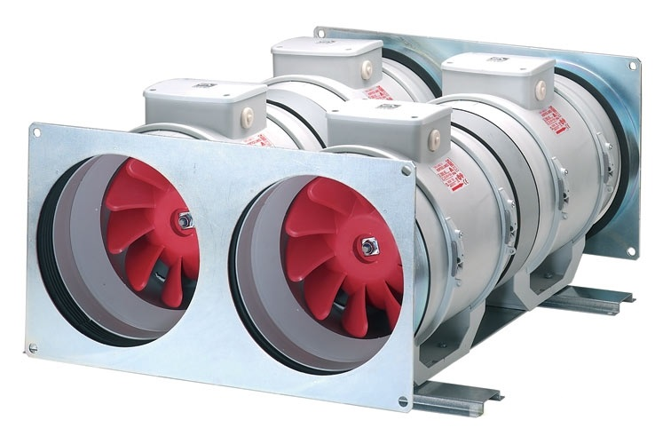 двойной канальный вентилятор