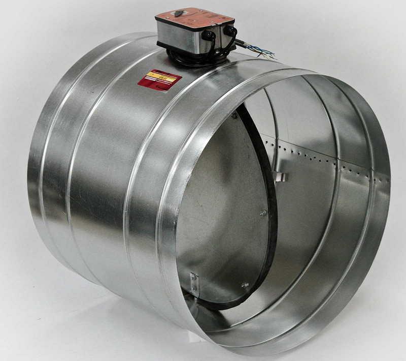 вентиляционный клапан с электроприводом