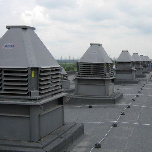 промышленная вентиляция на крыше