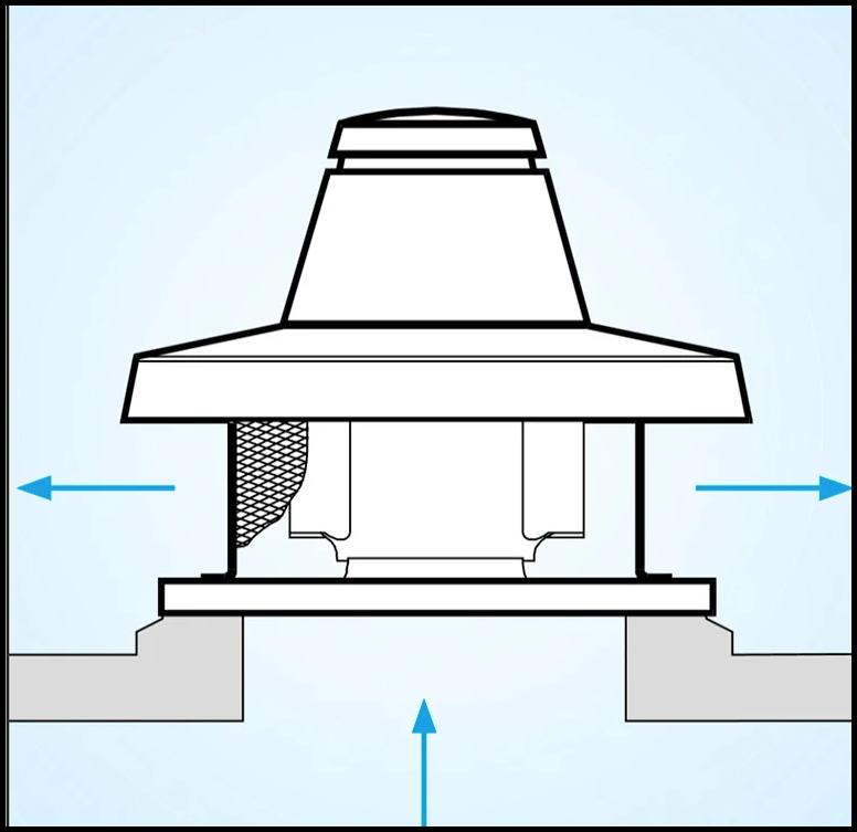 схема крышного вентилятора