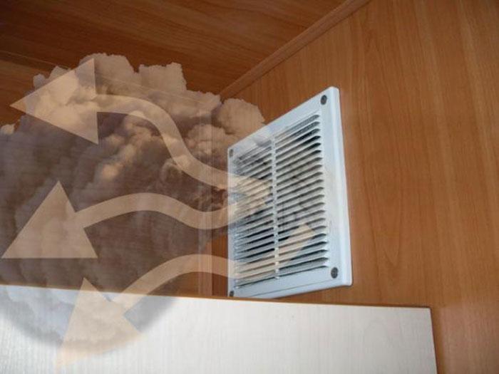 обратная тяга в системе вентиляции