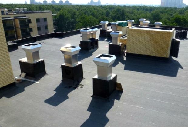 вентиляционные выходы на крыше