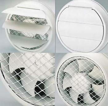 осевой оконный вентилятор