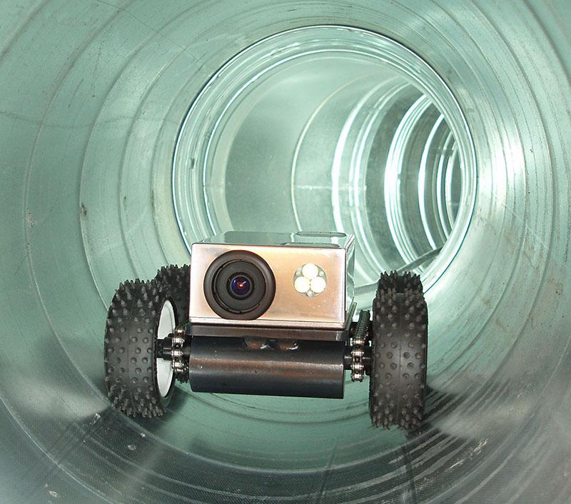 обследование воздуховодов роботом
