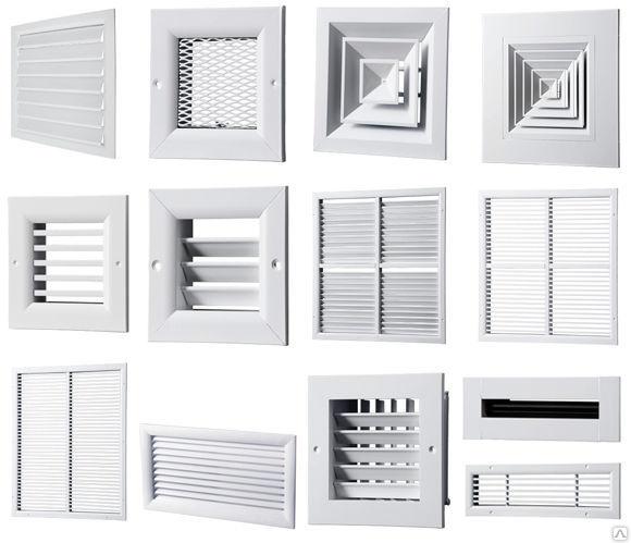 ассортимент металлических вентиляционных систем