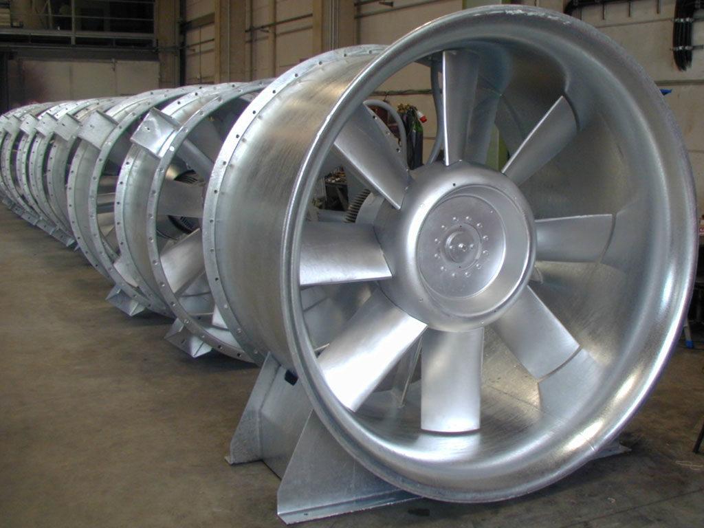 большие осевые вентиляторы