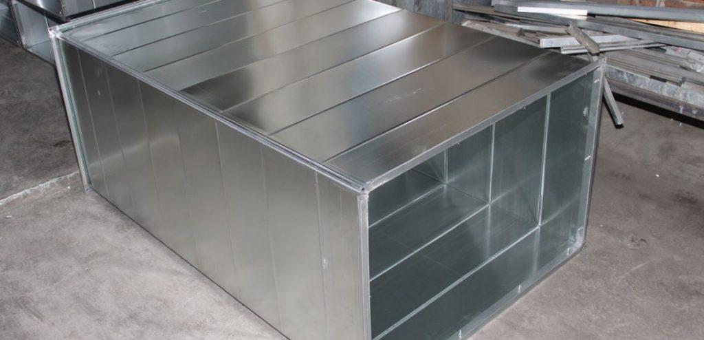 прямоугольный металлический воздуховод