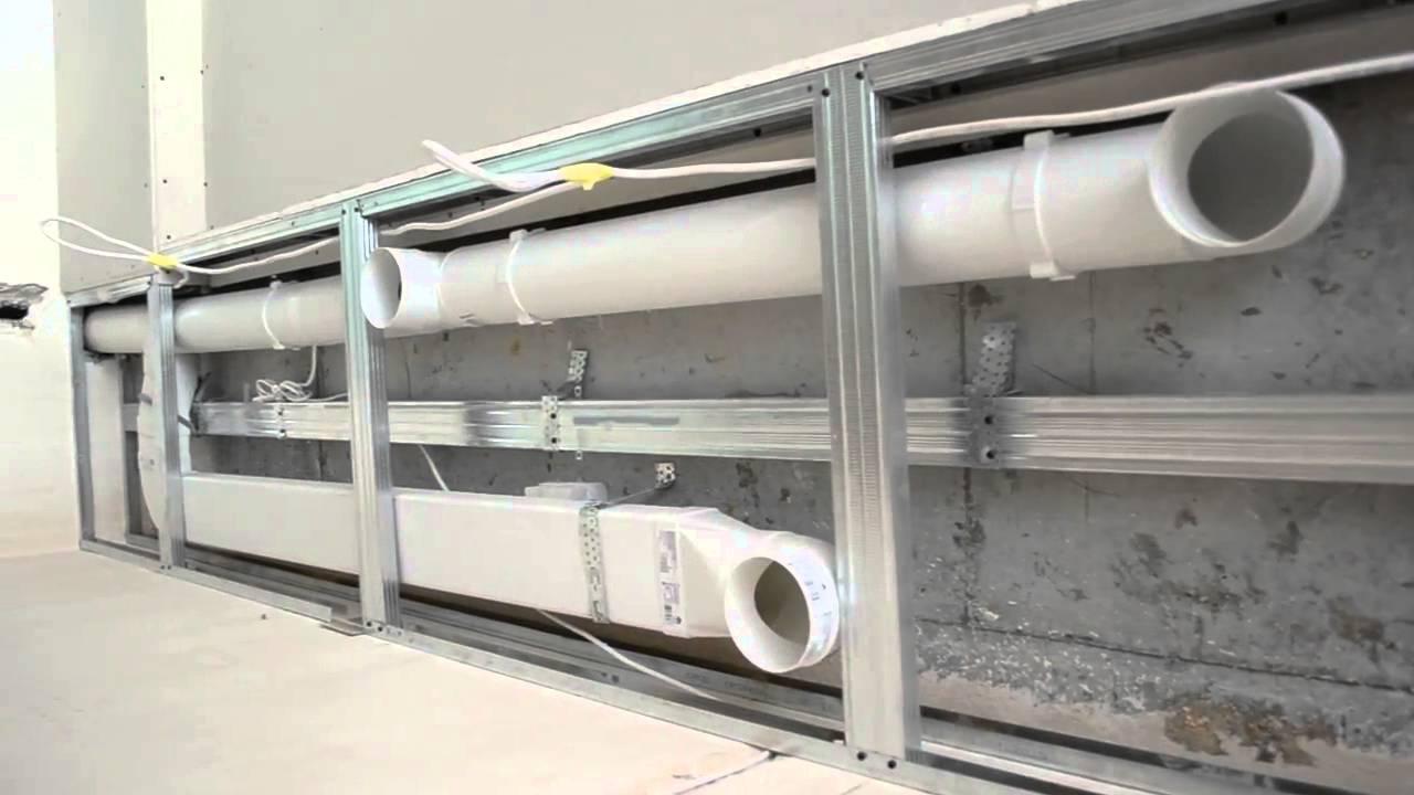 пример использования пластиковых воздуховодов
