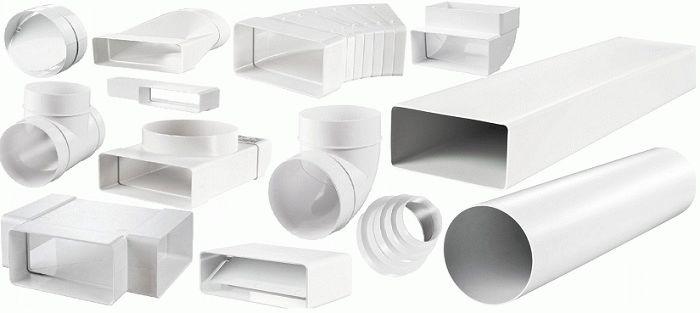 пластиковые прямоугольные элементы вентиляции