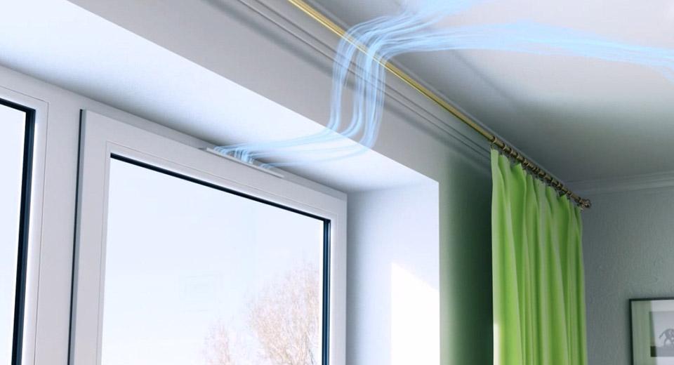 приточный клапан на пвх окне