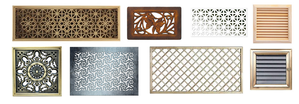 металлические декоративные элементы вентиляции