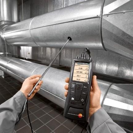 измерение скорости воздуха в воздуховоде