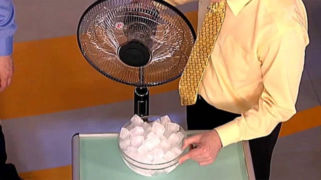 лед возле вентилятора