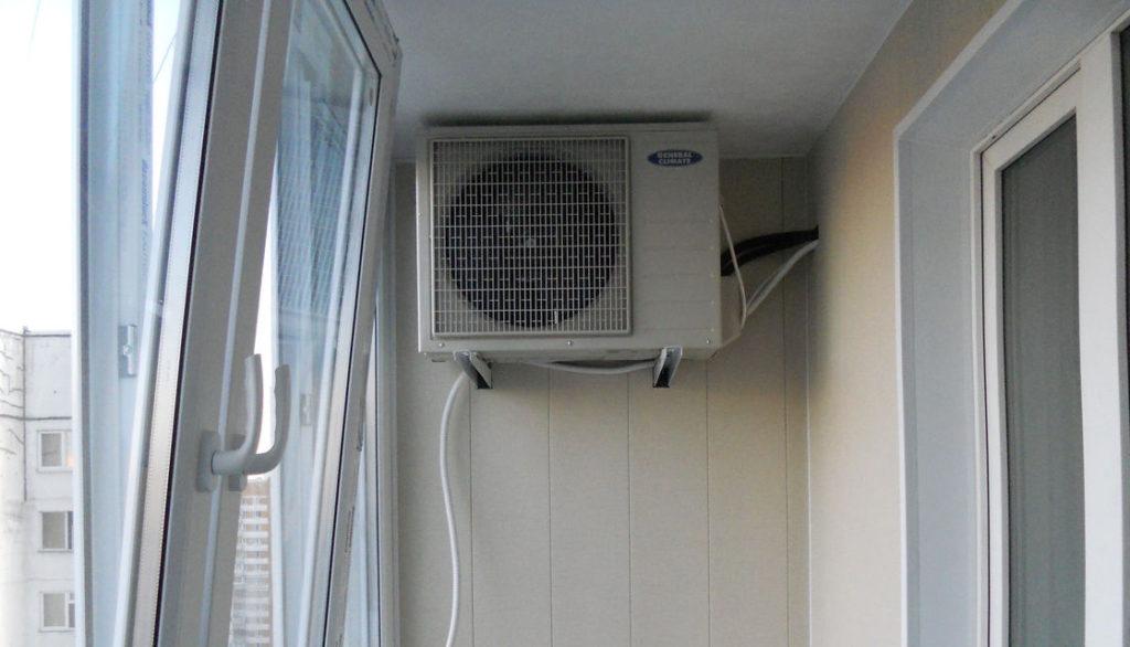 Сплит-система на балконе
