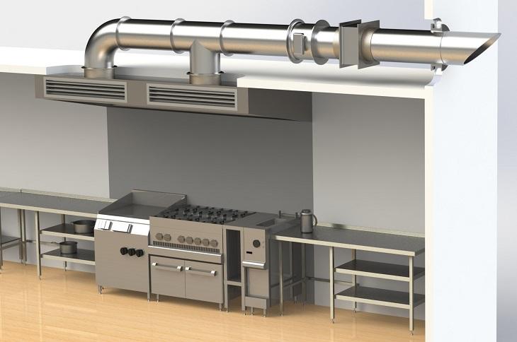 Вентиляция кухни в ресторане