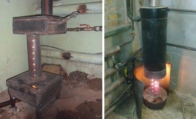 Печка на отработке с капельной подачей